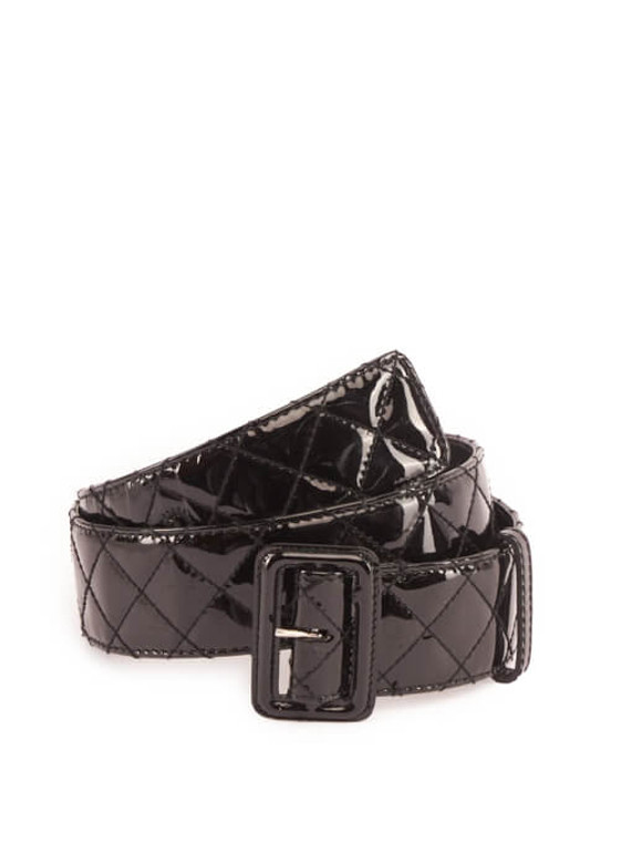 Women Burberry Quilted Belt - Black Size 85