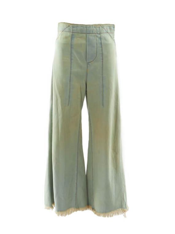 Women Chloé Hig Rise Wide Leg Jeans - Blue Size XS UK 6 US 0  FR 34