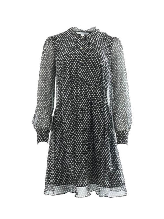 Women Diane von Furstenberg Polka Print Dress - Navy Size S UK 8 US 4