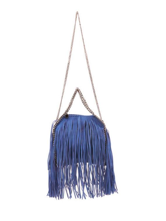 Women Stella McCartney Mini Fringe Falabella Bag - Blue
