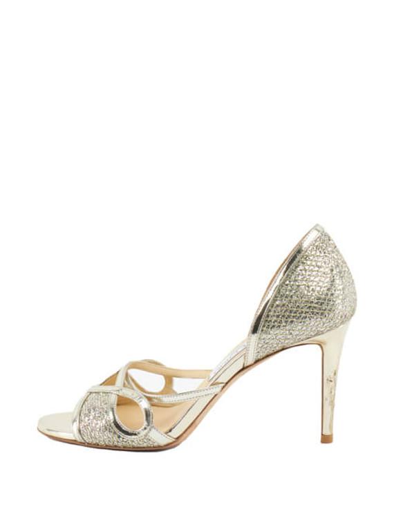 Women Jimmy Choo Mustique d'Orsay Sandal Heels - Silver Size UK 5 US 8 EU 38