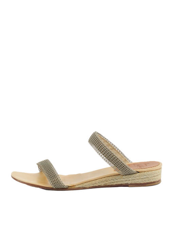 Women Christian Louboutin Wired Strap Sandals - Silver Size UK 6 US 9 EU 39