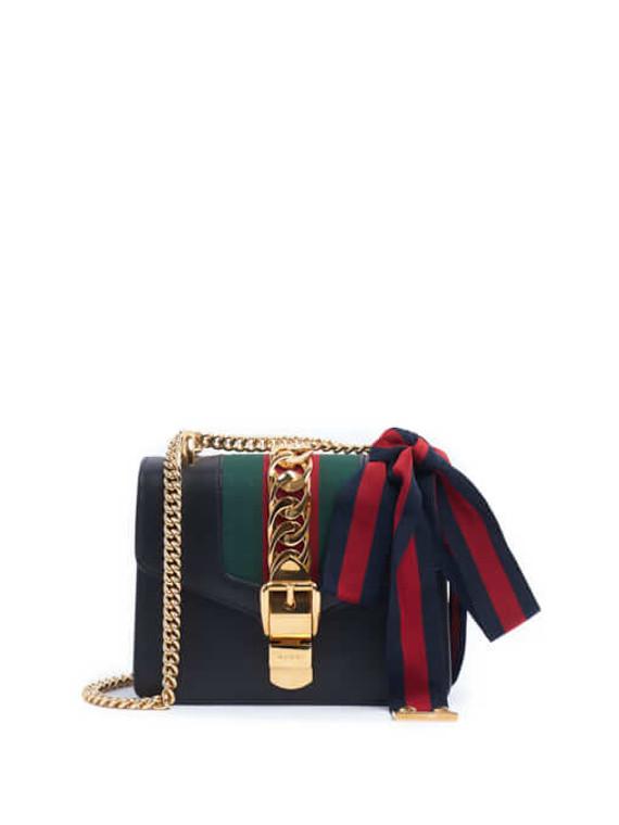 Women Gucci Sylvie Handbag - Black