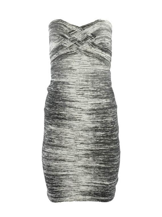 Women Herve Leger Gradient Bandage Strapless Dress - Grey Size XS UK 6 US 0