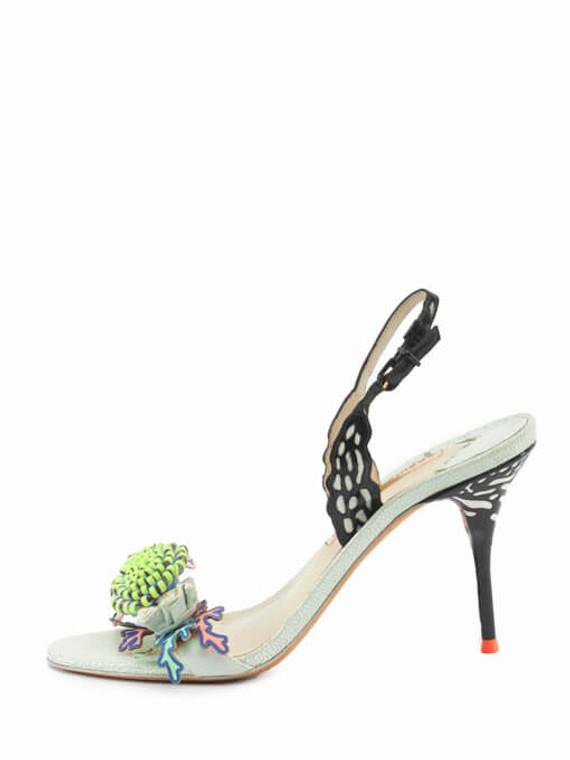 Women Sophia Webster Lilico Flower Sandal Heels - Muticolour Size UK 6 US 9 EU 39