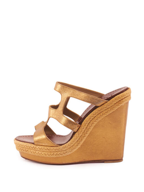 Women Christian Louboutin Bilbao Wedge Heels - Brown Size UK 6 US 9 EU 39
