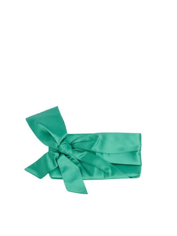 Women Valentino Bow Clutch - Green