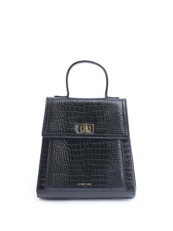 Women Anine Bing Top Handle Bag - Black