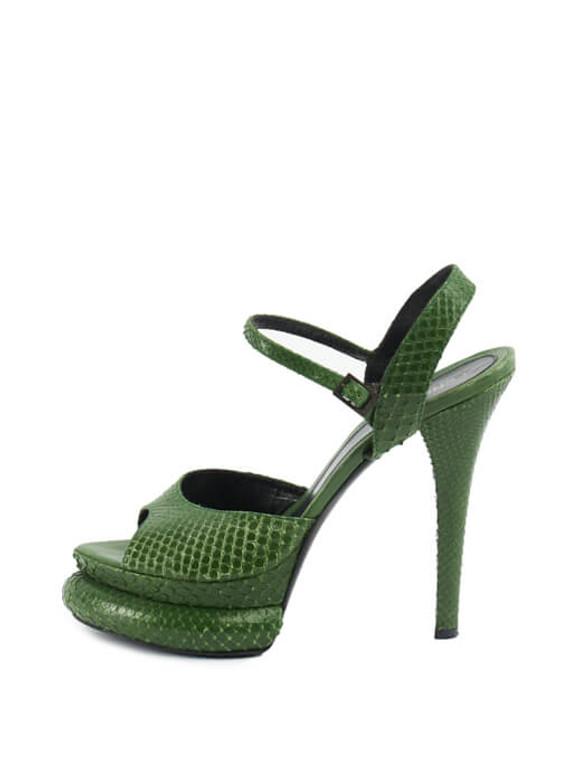 Women Fendi Bubble Platform Heels - Green Size UK 6 US 9 EU 39