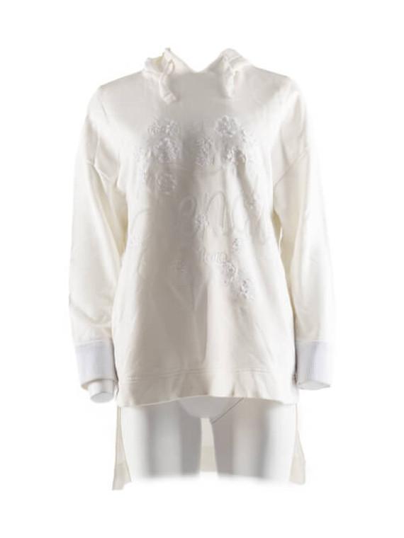 Women Fendi Sequin Logo Hoodie - White Size L