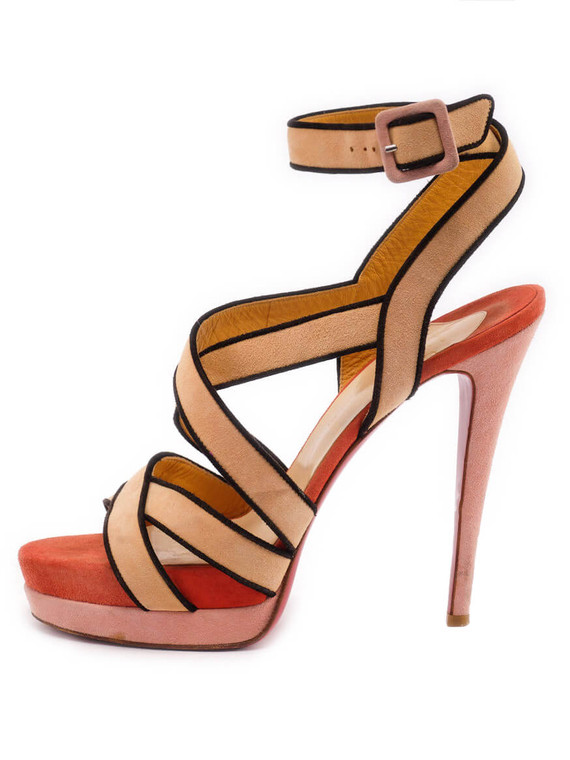 Women Christian Louboutin Straratata Platform Sandals - Multicolour Size UK 6.5 US 9.5 EU 39.5