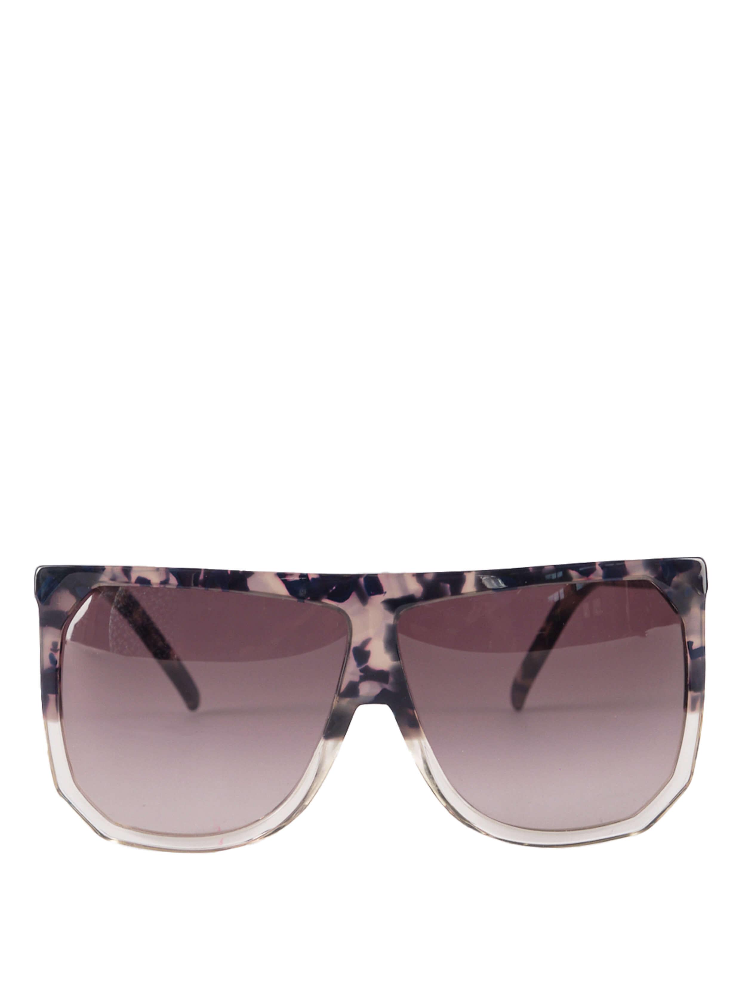 Women Loewe Structured Sunglasses - Black