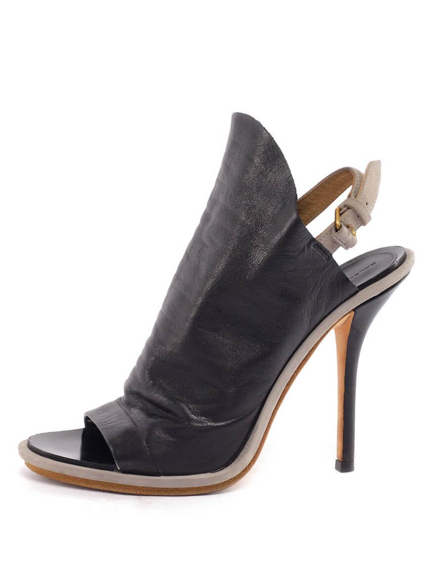 Women Balenciaga Glove Slingback Sandal Heels - Black Size UK 5 US 8 EU 38