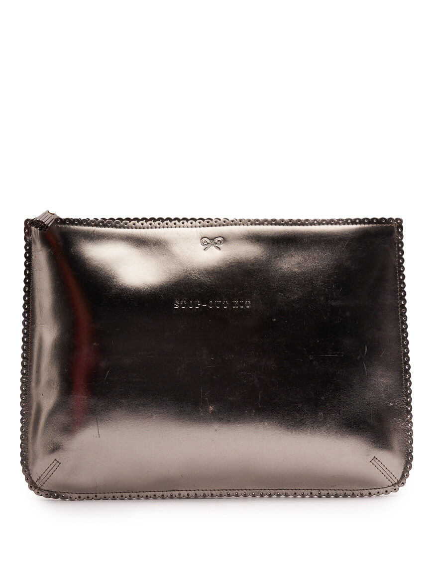 Women Anya Hindmarch Stop-Out Kit Pouch - Silver