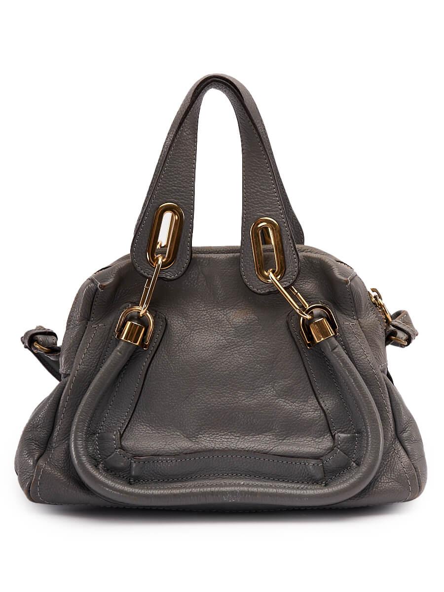 Women Chloé Paraty Handbag - Grey