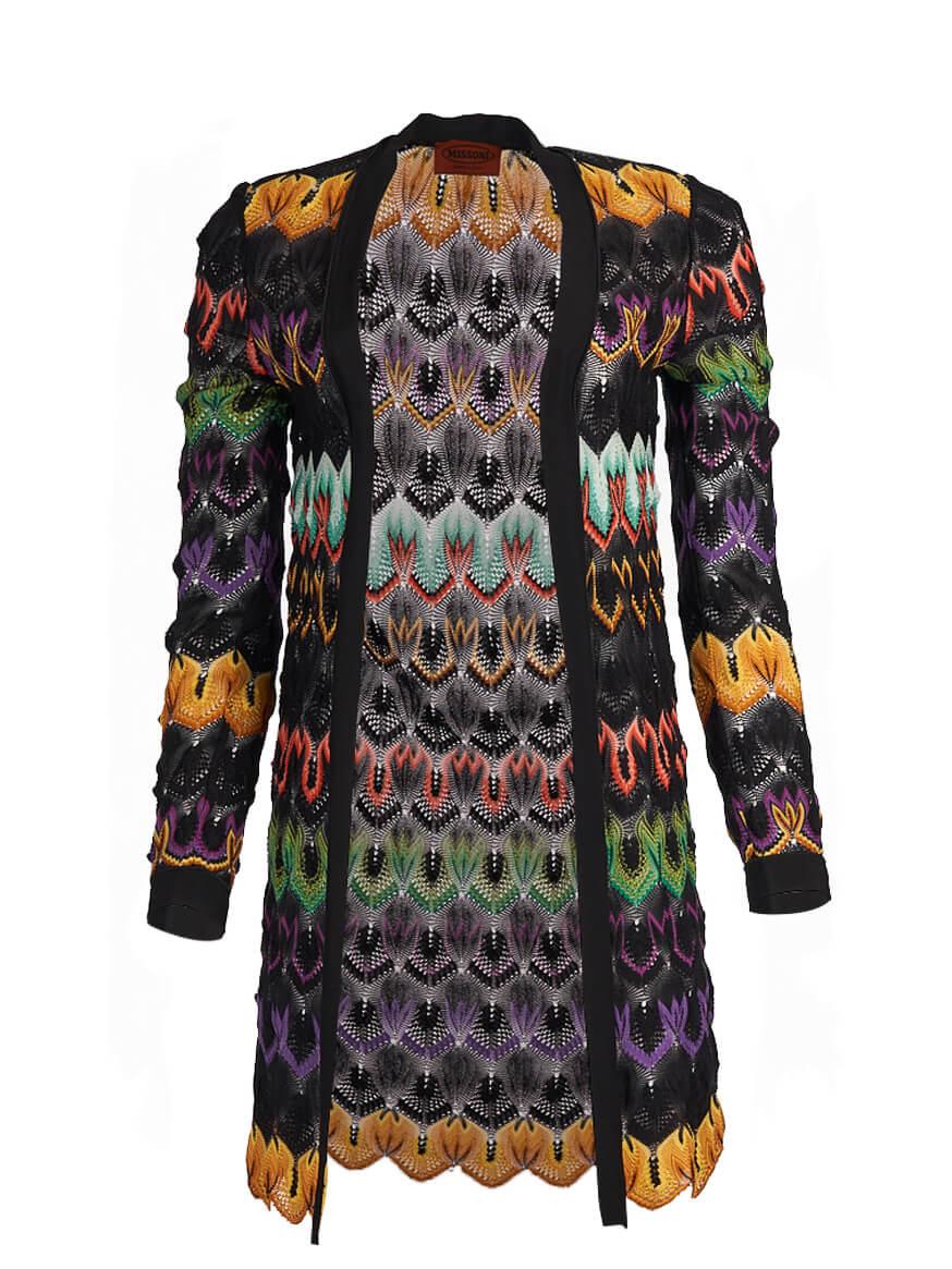 Women Missoni Print Cardigan - Black Size XS UK 8 US 0 IT 38