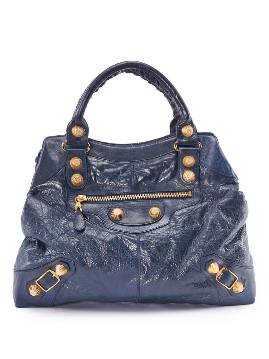 Women Balenciaga Town Bag - Blue