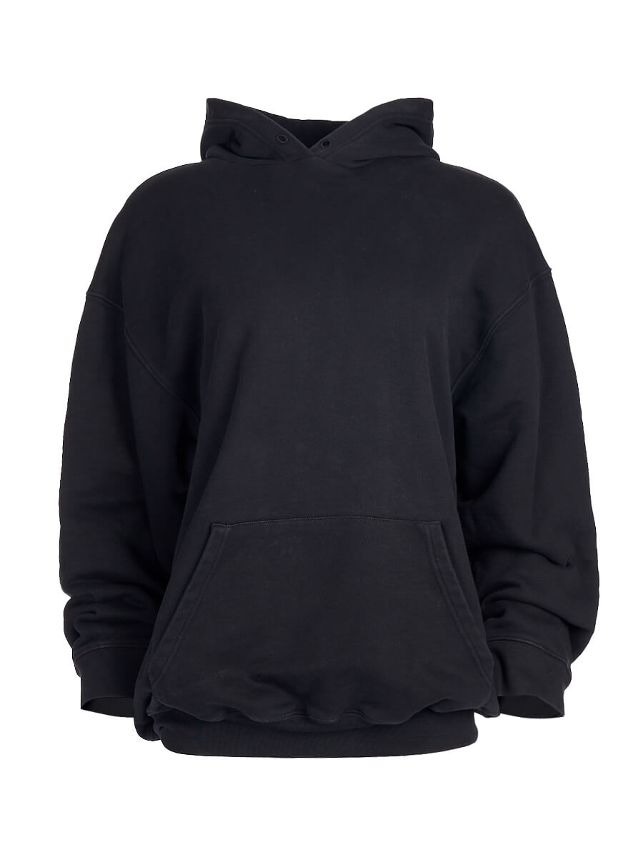 Women Balenciaga Black Oversize Logo Hoodie - Size S UK 8 US 4