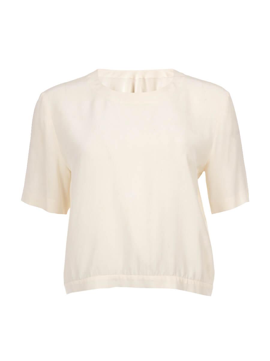 Women Marni White Silk Open Back Blouse - Size M UK10 US8 IT42