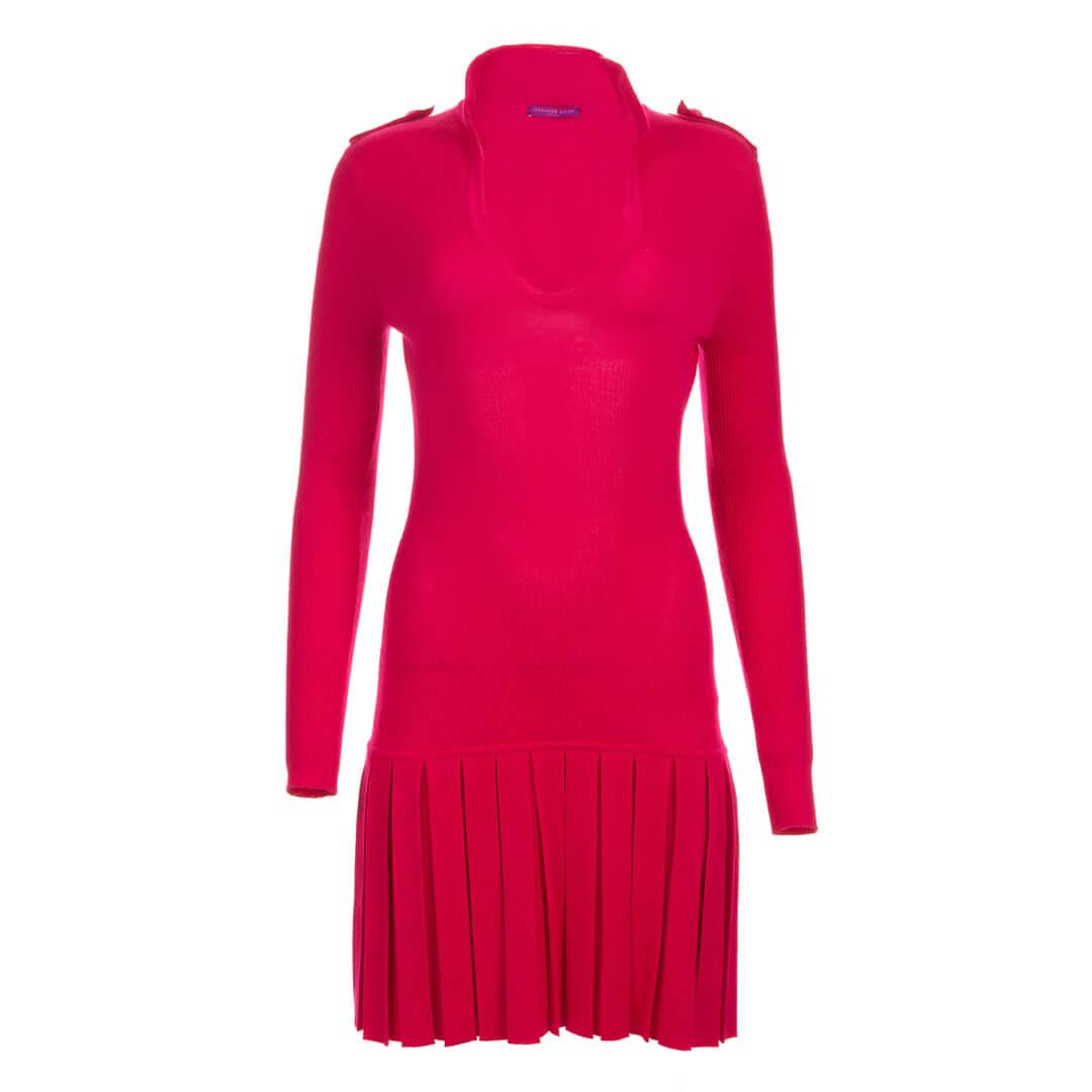 Women Alexander McQueen Fitted Tennis Dress Fuschia - Size S  Pink US 2 FR 34