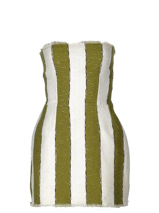 Women Dolce & Gabbana Striped Mini Dress -  White Size S IT 38 US 2