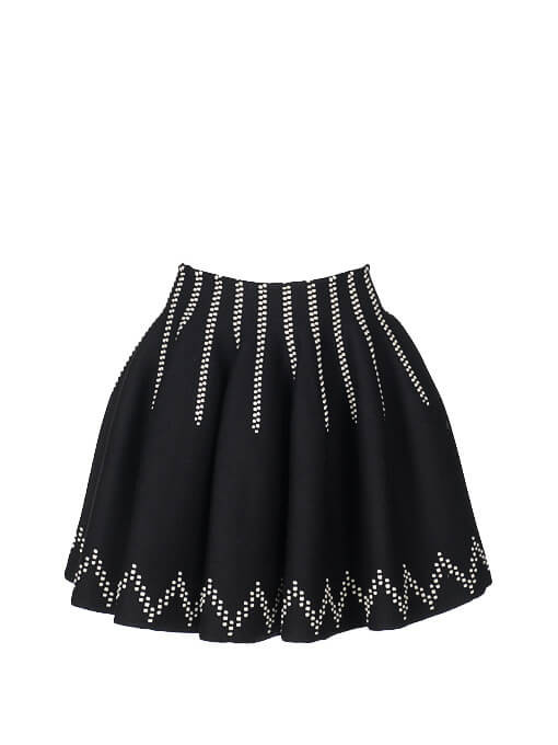 Women Alaïa Stitched Skirt -  Black Size M FR 38 US 6