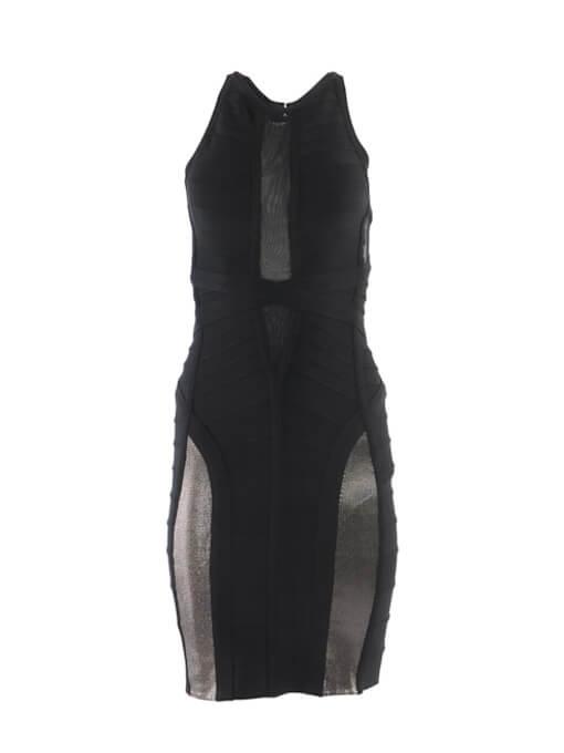 Women Herve Leger Stretch Mini Dress - Black Size M UK 10 US 6