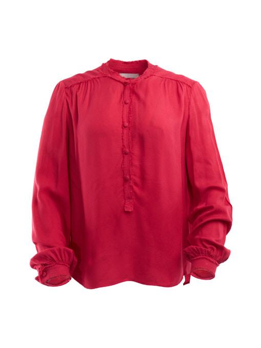 Women Zadig & Voltaire Collarless Shirt - Pink Size XS UK 6 US 0