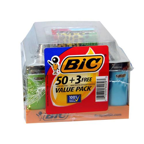 Bic-Mini-Lighters-50-+-3-Free-Display