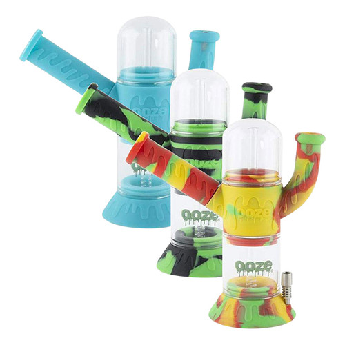 Ooze-Cranium-Silicone-Water-Pipe-&-Nectar-Collector