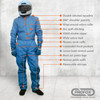 PROFOX-5™ One Piece Suit Features