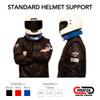 Standard Racing Helmet Support Collar - In use