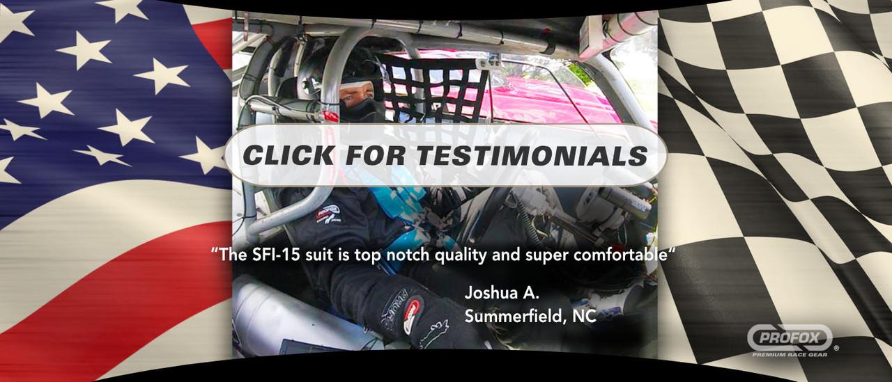 Racing Suit Testimonials Reviews