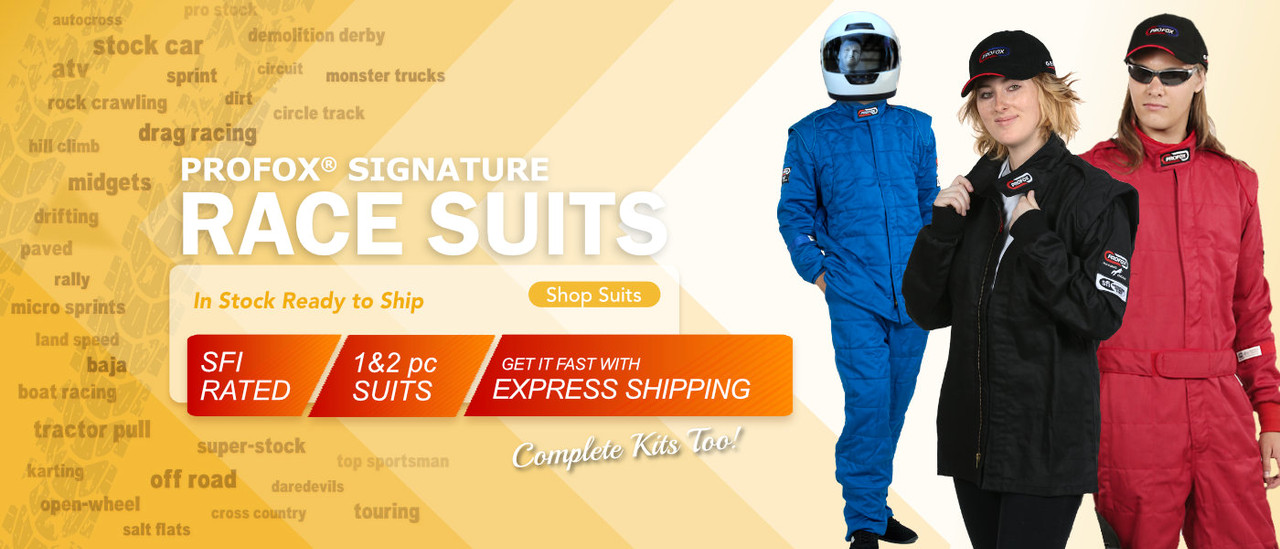 PROFOX SFI 20 SFI 15 Auto Racing Suits