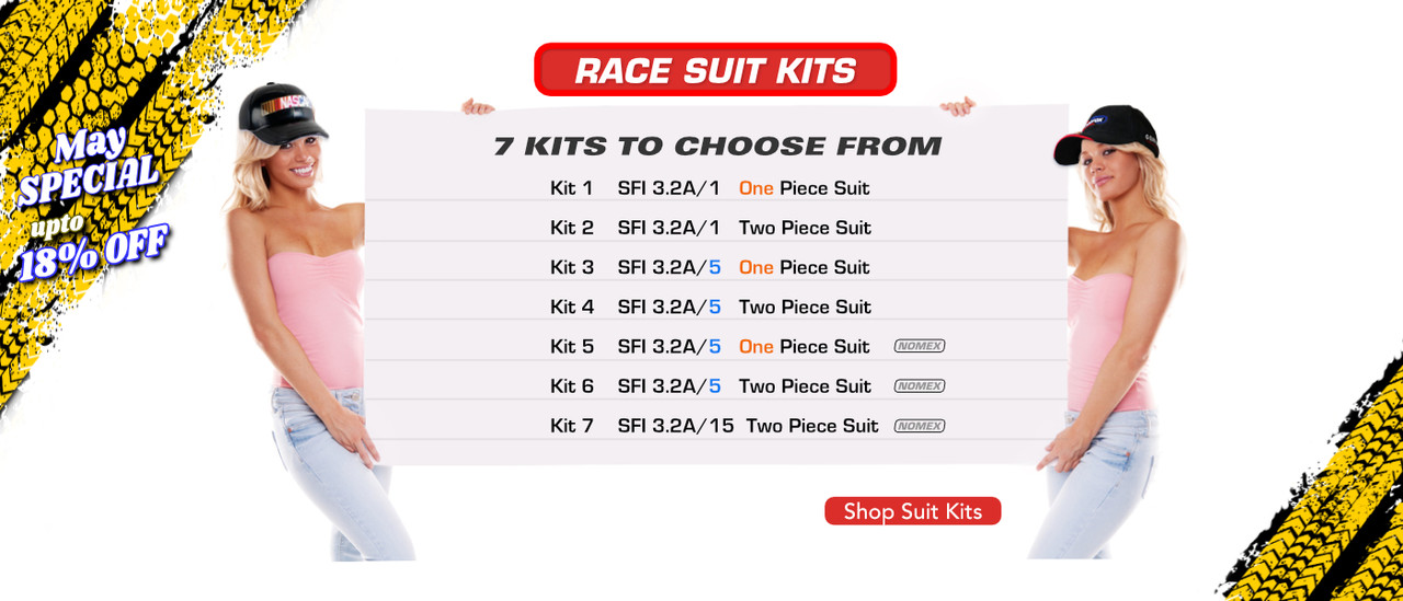 Discounted Complete Car Racing Suit Packages