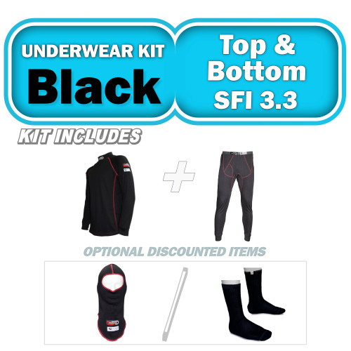 Kit Includes Black Fire Retardant Tops and Bottoms