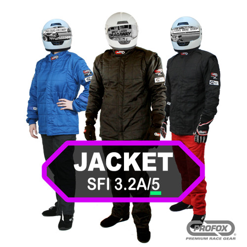 Black 2 Layer Racing Suit-One Piece-SFI-5 Rated Large