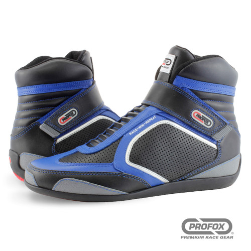 PROFOX Challenger SFI15 Mid-Top Blue Racing SFI 20 Shoes
