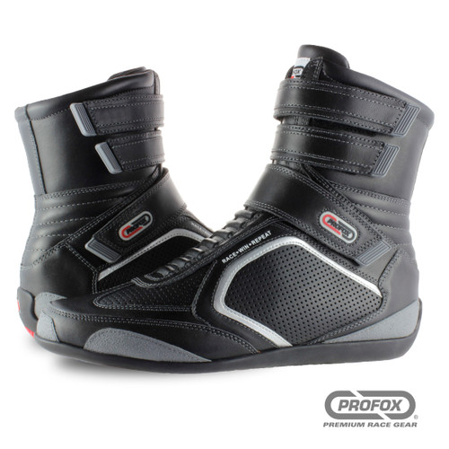 PROFOX SFI 15 Challenger High-Top Black Racing Shoes