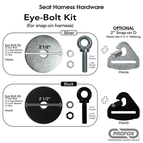 Eye Bolt Kit for race Harness