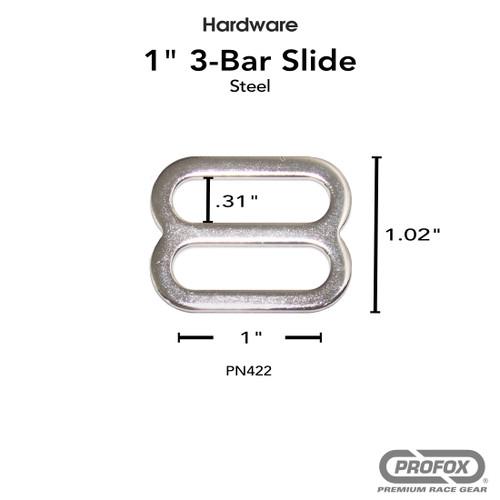 1 Inch Metal 3- Bar Slide Triglide