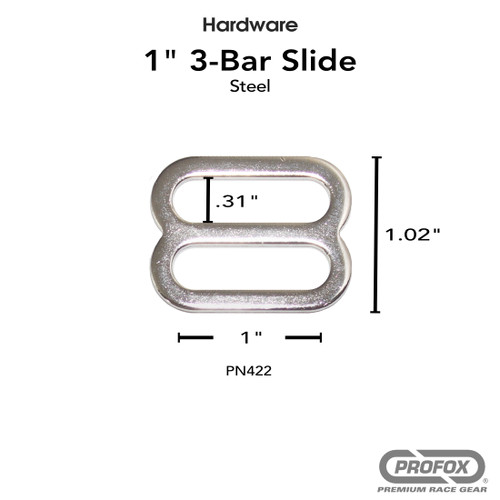 1 Inch Metal 3- Bar Slide Triglide