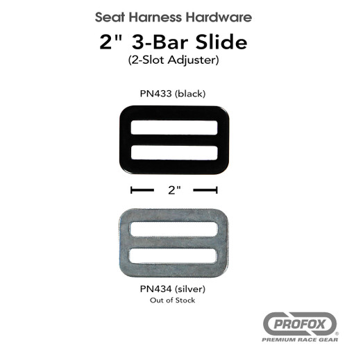 2 inch 3- Bar Slide / 2-Slot Adjuster / webbing cinch