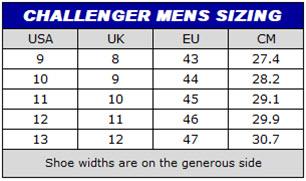 PROFOX Challenger shoe size chart