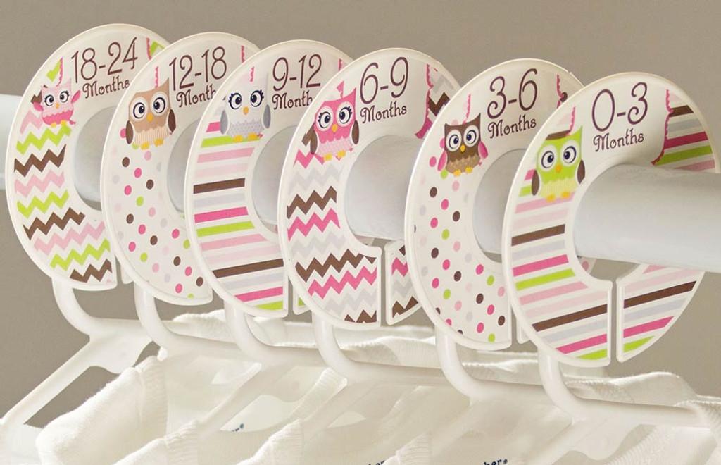 Owls baby closet dividers