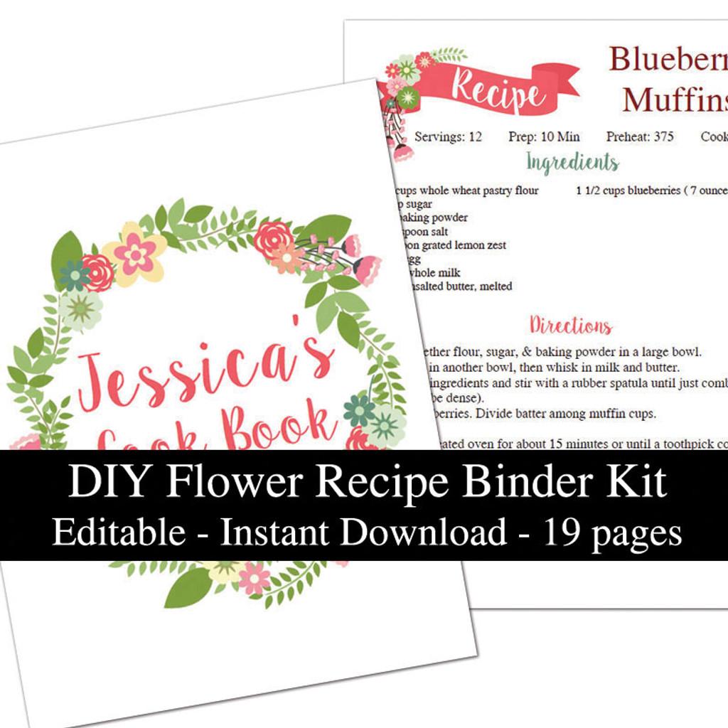 recipe binder template - Hizir kaptanband co