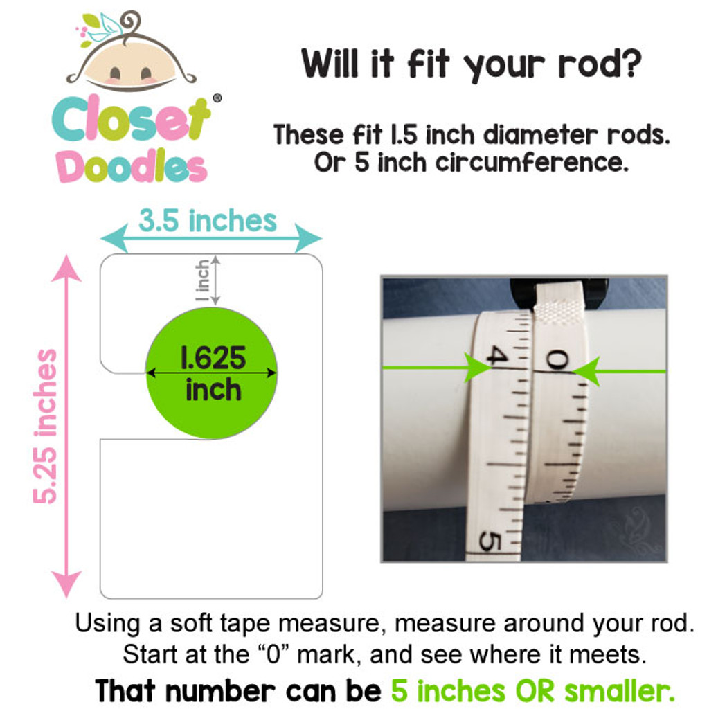 """Fits rods up to 1.5"""" diameter"""