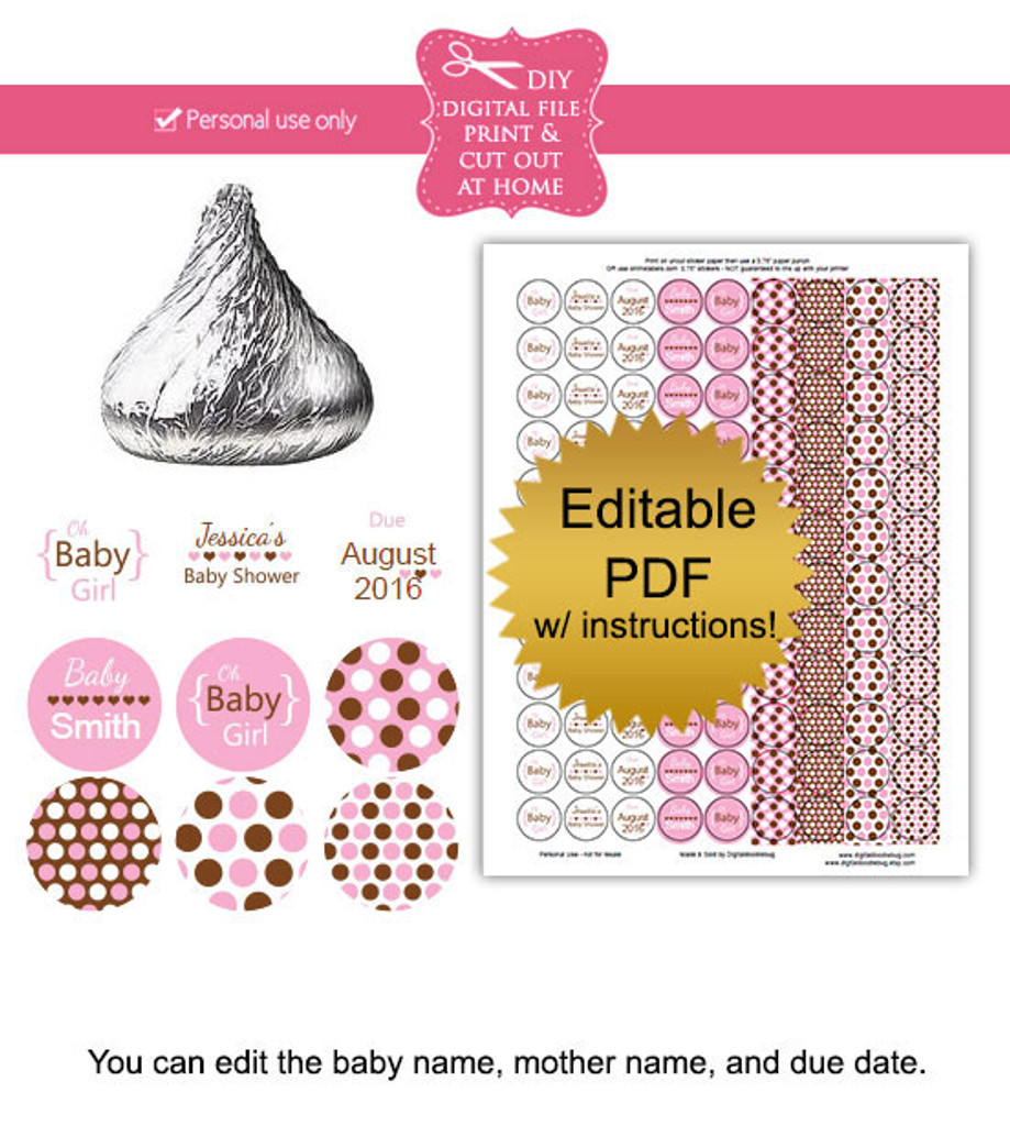 graphic about Printable Baby Shower Tags named Its a lady Printable child shower stickers