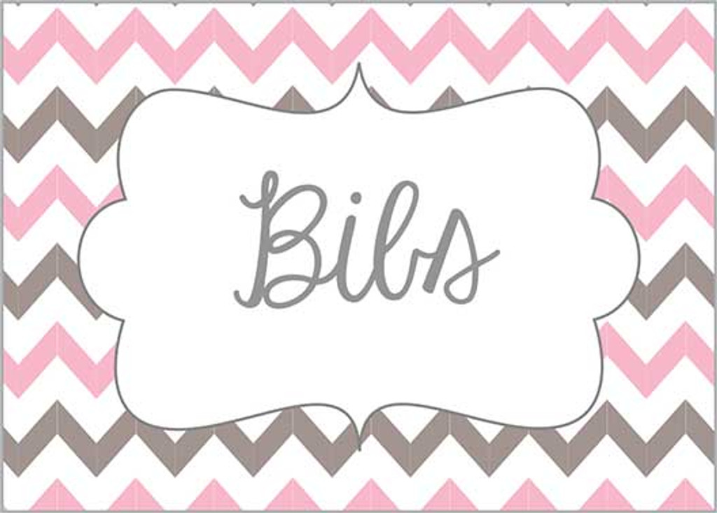 Light Pink & Gray chevron printable nursery drawer labels