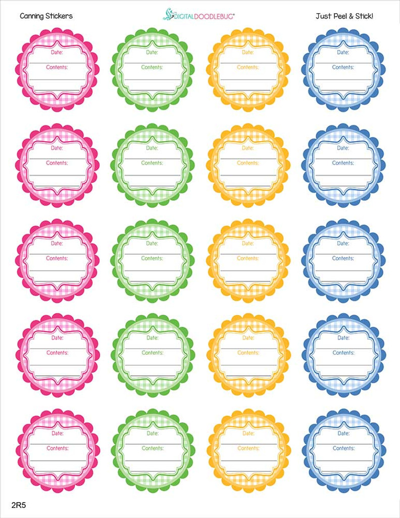 2 Inch canning labels 20 stickers